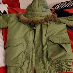 WeSC military winter coat